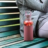 HYDY 透明-酒紅 輕靚冷水瓶 590ml