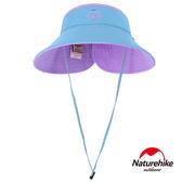 Naturehike 兩面可戴 雙色摺疊空頂遮陽帽 籃紫