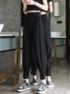 束腳工裝褲女夏寬松春秋薄款顯瘦加長闊腿褲西裝哈倫休閒褲小個子 小艾新品