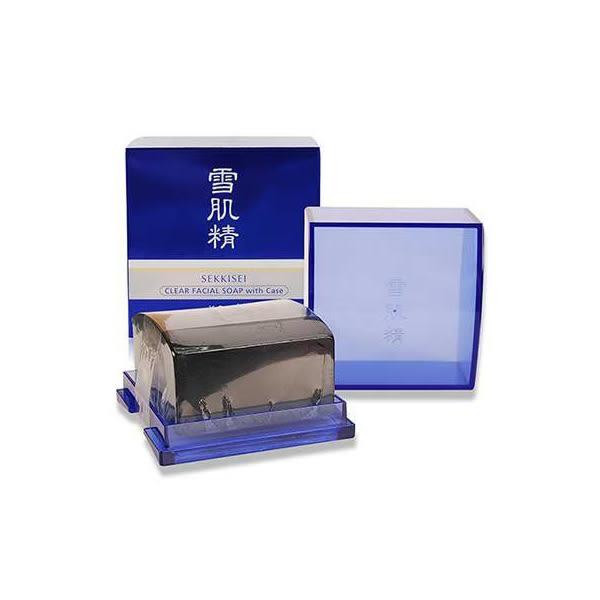 KOSE 高絲 雪肌精 晶透潔顏皂  附香皂盒 120g 盒裝【PQ 美妝】
