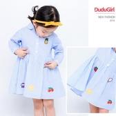 女童條紋連衣裙2019新款春裝寶寶公主裙兒童淑女拼接裙子女孩童裝
