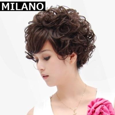 假髮(短髮)-經典成熟中老年捲髮女假髮2色73em25【時尚巴黎】