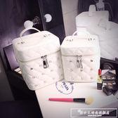 化妝包小號便攜韓國簡約少女心品收納包大容量多功能化妝箱盒手提『韓女王』