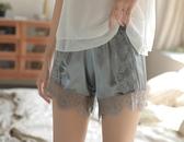 安全褲 防走光冰絲保險打底安全短褲女夏薄款寬鬆蕾絲可內外穿胖mm 果寶時尚