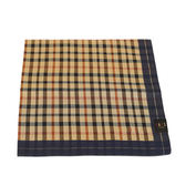 DAKS 純棉經典格紋帕巾(深藍)
