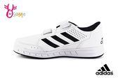 adidas AltaSport CF K 運動鞋 中童 皮面 休閒板鞋 P9389#白黑◆OSOME奧森童鞋