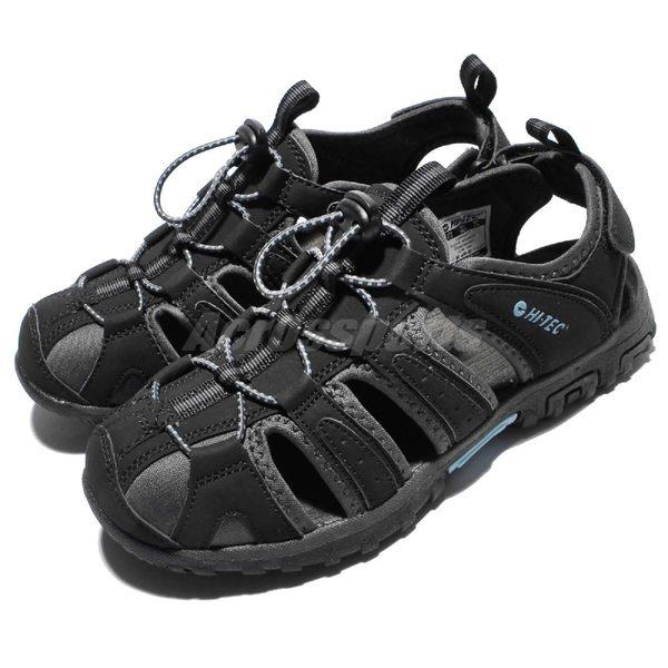 HI-TEC Cove Womens 黑 灰 藍 護趾涼鞋 水陸兩棲 戶外 涼鞋 女鞋 【PUMP306】 O006193021