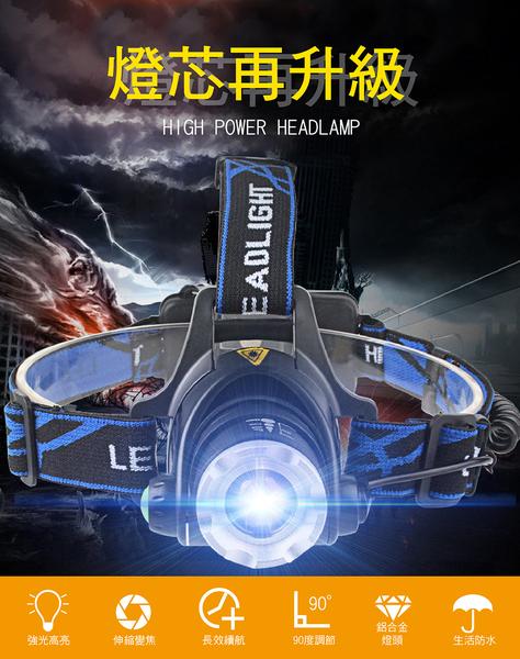 【免運費 爆量頭燈 XM-L2晶片】送電池x2 強光頭燈 伸縮調光 LED頭燈 釣魚頭燈 LED燈