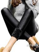 打底褲女外穿新款加厚刷毛褲女秋冬季顯瘦踩腳光澤褲保暖棉褲(一件免運)