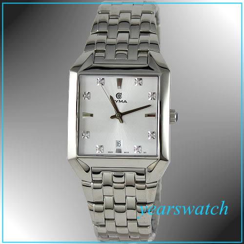 【萬年鐘錶】CYMA瑞士司馬錶 白 男錶 02-0498-001
