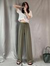 冰絲闊腿褲女夏2020新款高腰垂感寬鬆直筒薄款休閒顯瘦墜拖地褲子 伊蒂斯