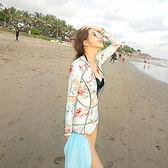 連體泳衣女緊身速干潛水服三件套水母衣