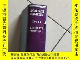 二手書博民逛書店coordinate罕見geometryi(座標幾何)Y1042