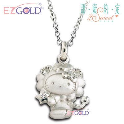 Hello Kitty凱蒂貓-獅子座(7/23~8/22)-星座銀飾墜子