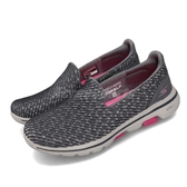 Skechers 休閒鞋 Go Walk 5-Miracle 灰 粉紅 健走鞋 懶人鞋 舒適緩震 女鞋 運動鞋【PUMP306】 15906GYPK