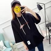 【免運快出】 胖MM大碼女裝印花連帽T恤女連帽套頭長袖上衣 奇思妙想屋