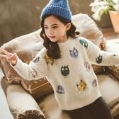 女童高領毛衣新款潮 女童毛衣新款洋氣長款外穿 女童新年毛衣