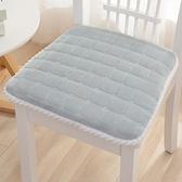 坐墊 冬季家用餐椅坐墊一體可拆洗加厚餐桌椅子防滑屁股板凳海綿茶椅墊【幸福小屋】