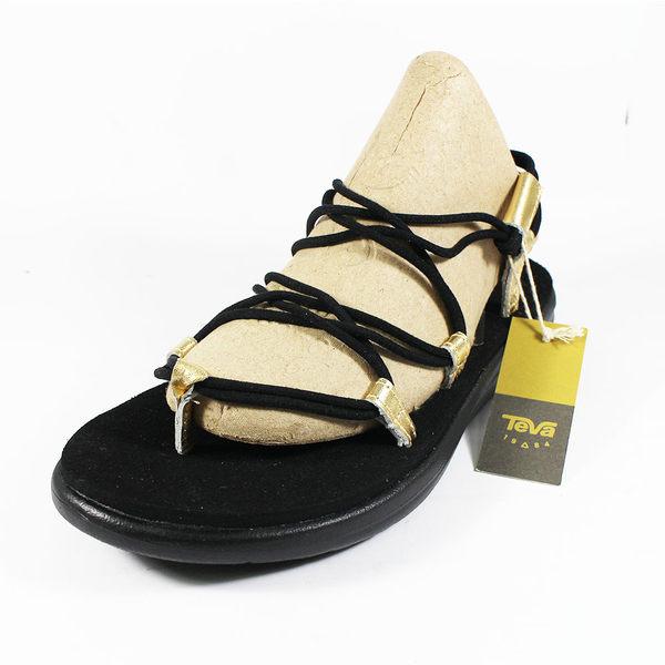 (A3) TEVA W VOYA INFINITY 女 黑金 羅馬黑繩 羅馬織帶 運動涼鞋 TV1097852BKGD