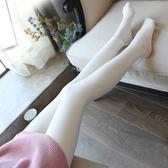 秋冬季絲襪白色連褲襪成人大學生加絨加厚日系少女打底襪軟妹褲子「輕時光」