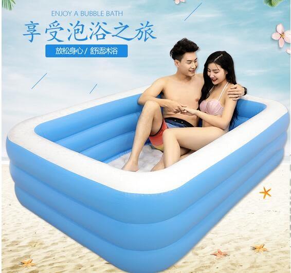 雙人超大家用成人泡澡桶情侶充氣浴缸兒童洗澡桶折疊浴盆游泳池 英雄聯盟