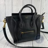 BRAND楓月 CELINE 經典 黑色 LUGGAGE NANO 冏包 手提包 斜背包 側背包