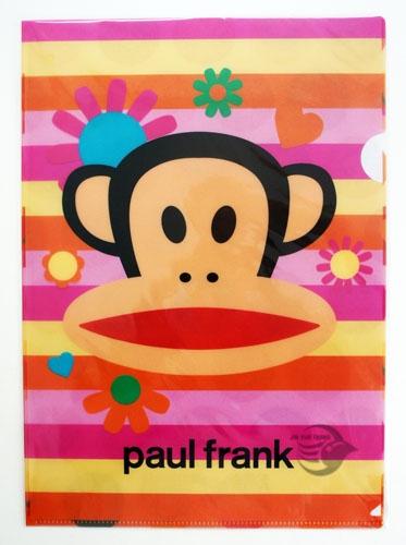 【金玉堂文具】Paul Frank 強力L型夾 大嘴猴 熱情如花 資料夾