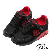 【韓國T2R】韓劇熱銷男款 9公分雙氣墊隱形增高休閒鞋 黑(5600-0077)