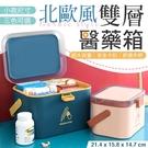 《小款箱體!輕巧便利》 北歐風雙層醫藥箱...