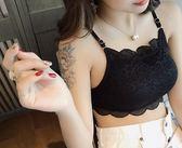 新款蕾絲美背吊帶背心女裹胸式抹胸短款性感聚攏帶胸墊內衣文胸