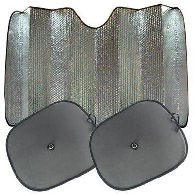 防曬遮光組合包(前檔遮陽板X1+側窗遮陽板X2)汽車遮陽簾【DouMyGo汽車百貨精品】