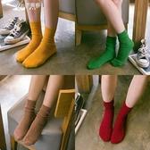堆堆襪女韓國繫中筒襪夏季薄款日繫潮韓版學院風百搭棉襪子女長襪伊芙莎