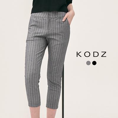 東京著衣【KODZ】雜誌時髦質感顯瘦高腰設計長褲-XS.S.M.L(180203)