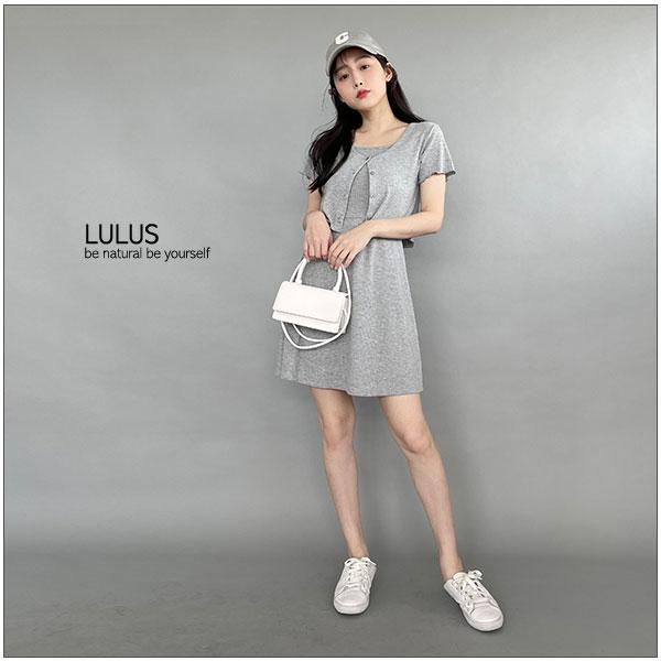 LULUS【A01210494】K自訂款拷克邊坑條開釦上衣5色