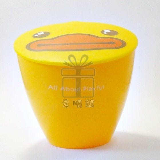 素晴館 B. Duck 黃色小鴨桌面垃圾桶/置物桶