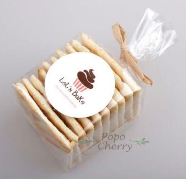 9入  杯子蛋糕 馬芬 包裝盒貼紙 封口貼紙 西點貼