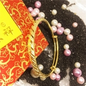 手鐲 久不掉色沙金首飾999越南歐幣鍍金仿真假24K黃金手鐲子環飾品-凡屋