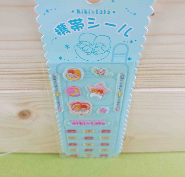 【震撼精品百貨】Little Twin Stars KiKi&LaLa 雙子星小天使~貼紙-透明粉