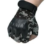 店長推薦▶閱兵迷彩戰術半指手套防滑透氣戶外運動軍迷健身格斗防護露指