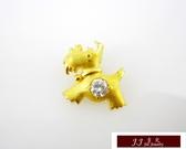 9999純金 黃金 墜飾 設計款 生肖 狗 送精緻皮繩項鍊