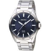 SEIKO精工SPIRIT潮流時尚太陽能腕錶 V157-0CP0B SNE483P1 藍