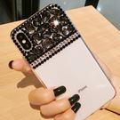 蘋果 iPhone XS MAX XR iPhoneX i8 Plus i7 Plus 貴氣黑鑽殼 手機殼 水鑽殼 訂製