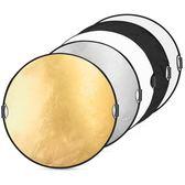 反光板 80cm五合一手提攝影反光板 圓形便攜折疊檔光打光柔光板拍照器材 玩趣3C