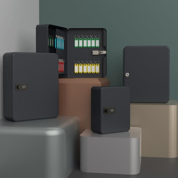 钥匙箱家用壁掛式密码房产中介钥匙柜汽车钥匙盒收纳盒管理箱掛墙 可然精品