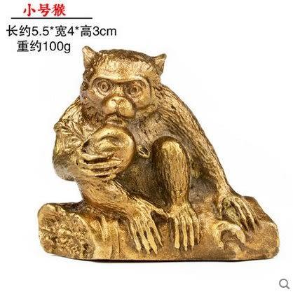 開光純銅十二生肖擺件屬鼠牛虎屬兔龍蛇馬羊猴雞狗豬   小號猴4898