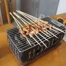 大號 日式木炭迷你燒烤爐單人碳烤爐一人食烤肉家用碳烤爐子【橘社小鎮】