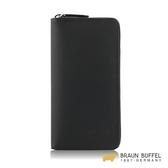 【BRAUN BUFFEL】大富翁-Ⅱ系列22卡拉鍊長夾 - 黑色 BF356-601-BK