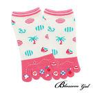 Blossom Gal日本進口渡假沙灘涼感紗五趾襪(共4色)