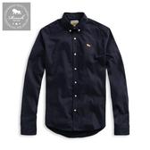 【Roush】 麂皮織帶設計牛津布襯衫 -【915572】