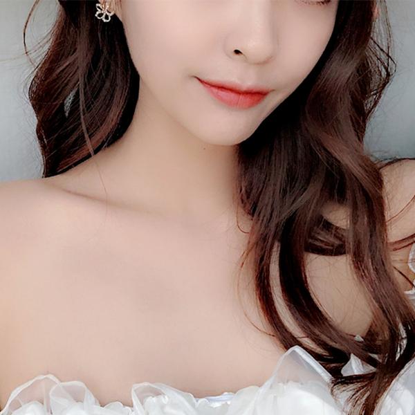 耳環 現貨 韓國女神氣質浪漫花朵珍珠水鑽925銀針耳環 夾式耳環 S93372  批發價 Danica 韓系飾品